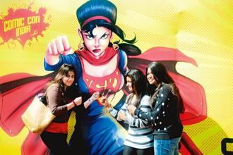 Fans are the best part of Comic Con, with cosplayers and comic book collectors filling the space. Photo: Pradeep Gaur/Mint